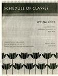 UNI Schedule of Classes, Spring 2002