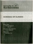 UNI Schedule of Classes, Fall 2001 by University of Northern Iowa