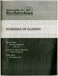 UNI Schedule of Classes, Fall 2001