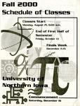 UNI Schedule of Classes, Fall 2000