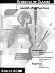UNI Schedule of Classes, Spring 2000