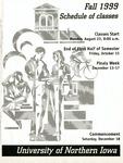 UNI Schedule of Classes, Fall 1999