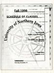 UNI Schedule of Classes, Fall 1998