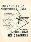 UNI Schedule of Classes, Spring 1997