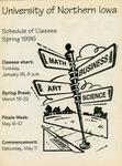 UNI Schedule of Classes, Spring 1996