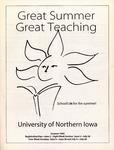 UNI Schedule of Classes, Summer 1995