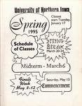 UNI Schedule of Classes, Spring 1995