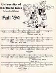 UNI Schedule of Classes, Fall 1994