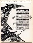 UNI Schedule of Classes, Spring 1993