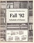 UNI Schedule of Classes, Fall 1992