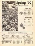 UNI Schedule of Classes, Spring 1992