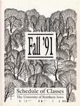 UNI Schedule of Classes, Fall 1991