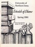 UNI Schedule of Classes, Spring 1991