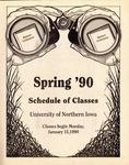 UNI Schedule of Classes, Spring 1990