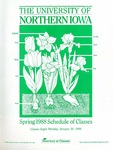 UNI Schedule of Classes, Spring 1988 by University of Northern Iowa