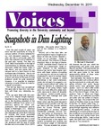 VOICES Newsletter, December 2011 by University of Northern Iowa. Center for Multicultural Education.