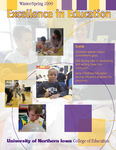 Excellence in Education, Winter/Spring 2009 by University of Northern Iowa. College of Education.
