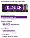 Premier, Spring/Summer 2020 by University of Northern Iowa. College of Education.