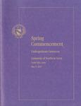 Spring Commencement, Undergraduate Ceremony [Program], May 9, 2015