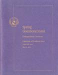 Spring Commencement, Undergraduate Ceremony [Program], May 10, 2014