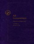 Fall Commencement [Program], December 15, 2012