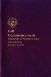 Fall Commencement [Program], December 19, 2009
