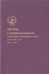 Spring Commencement [Program], May 6, 2006