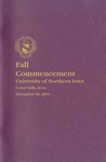 Fall Commencement [Program], December 18, 2004