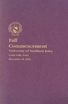 Fall Commencement [Program], December 20, 2003 by University of Northern Iowa