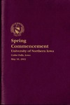 Spring Commencement [Program], May 10, 2003 by University of Northern Iowa