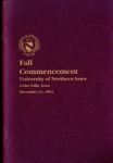 Fall Commencement [Program], December 21, 2002