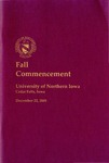 Fall Commencement [Program], December 22, 2001