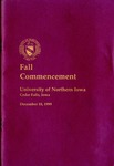 Fall Commencement [Program], December 18, 1999