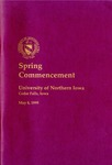Spring Commencement [Program], May 8, 1999