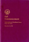 Fall Commencement [Program], December 19, 1998