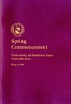 Spring Commencement [Program], May 9, 1998