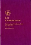 Fall Commencement [Program], December 20, 1997