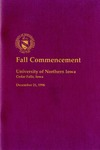 Fall Commencement [Program], December 21, 1996