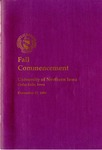 Fall Commencement [Program], December 17, 1994