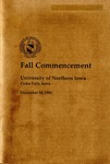 Fall Commencement [Program], December 18, 1993 by University of Northern Iowa
