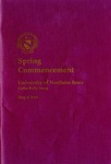 Spring Commencement [Program], May 8, 1993 by University of Northern Iowa