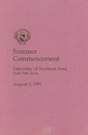 Summer Commencement [Program], August 2, 1991 by University of Northern Iowa