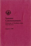 Summer Commencement [Program], August 3, 1990 by University of Northern Iowa