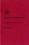Spring Commencement [Program], May 12, 1990 by University of Northern Iowa