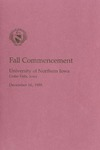 Fall Commencement [Program], December 16, 1989 by University of Northern Iowa