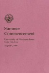 Summer  Commencement [Program], August 4, 1989