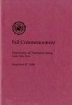 Fall Commencement [Program], December 17, 1988