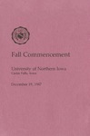 Fall Commencement [Program], December 19, 1987