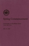 Spring Commencement [Program], May 16, 1987