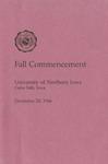 Fall Commencement [Program], December 20, 1986